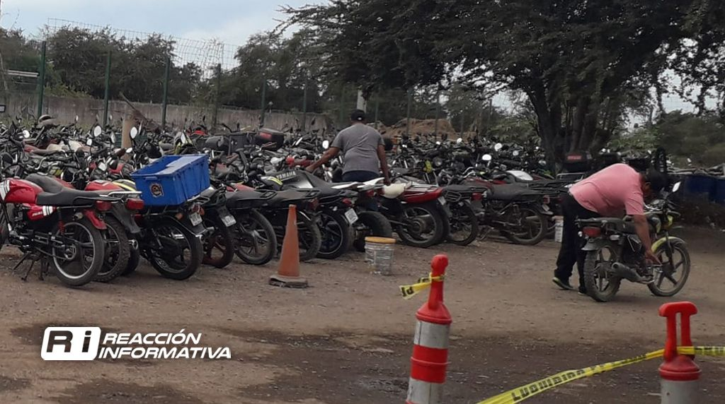 Falta de placas y documentos, principales causas  de decomisos de motos